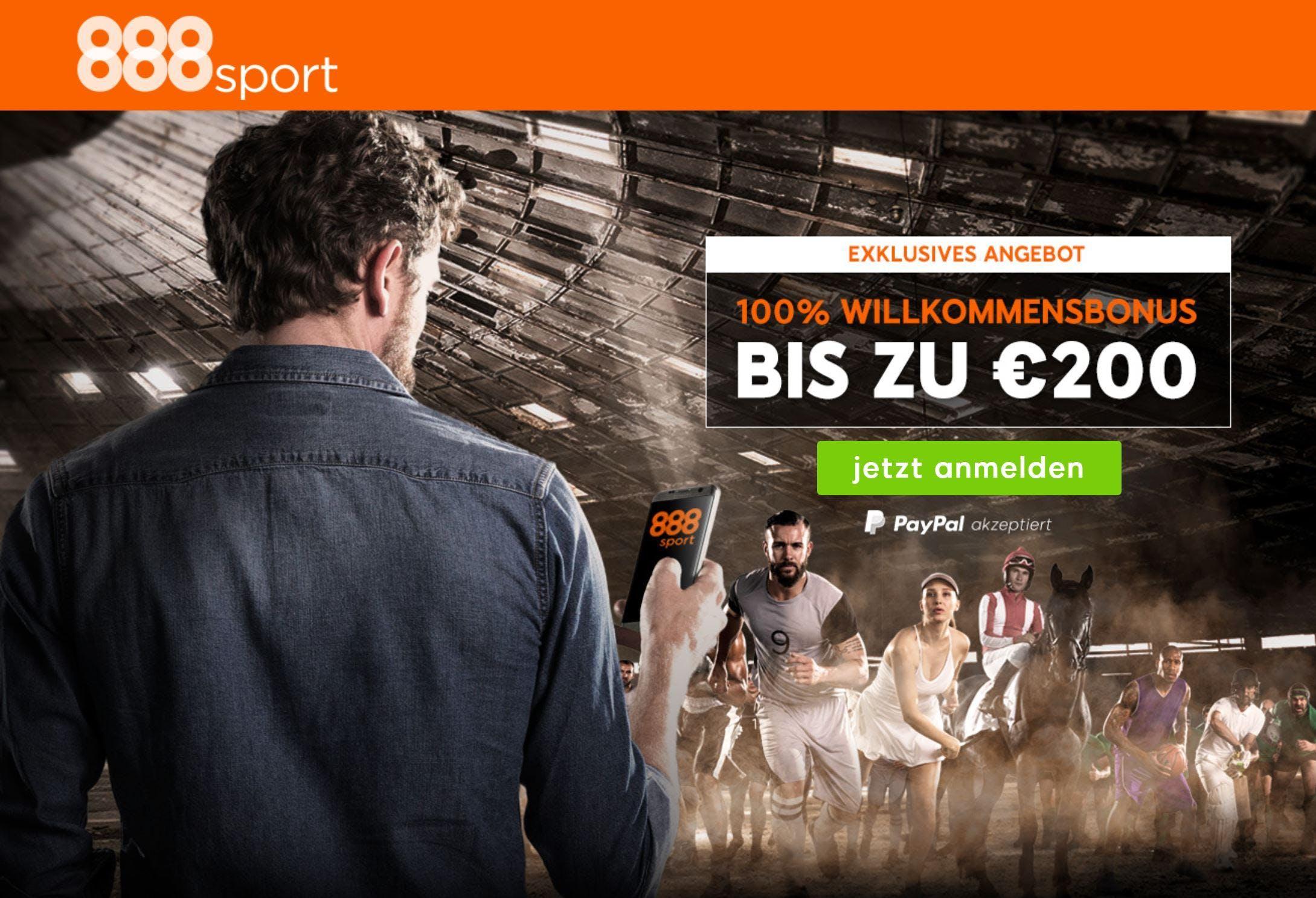 Neuer 888sport Bonus: Ab sofort 200 Euro für Neukunden