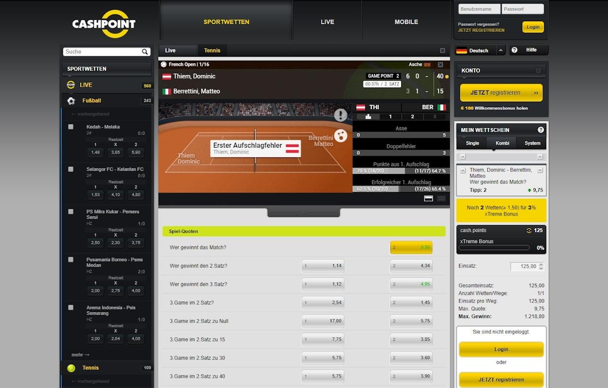 Cashpoint.Com Sportwetten